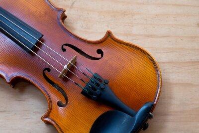 Carta da parati Violino su tavola di legno