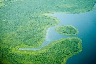 Carta da parati vista aerea del fiume Nilo