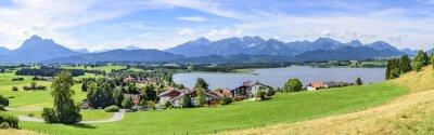 Carta da parati Vista del Hopfen am See im Allgäu