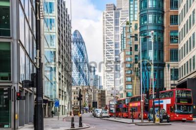 Carta da parati Vista della città di Londra intorno alla stazione di Liverpool Street