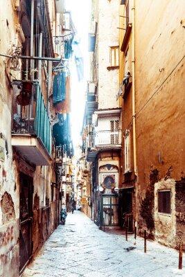 Carta da parati Vista della città vecchia della città di Napoli