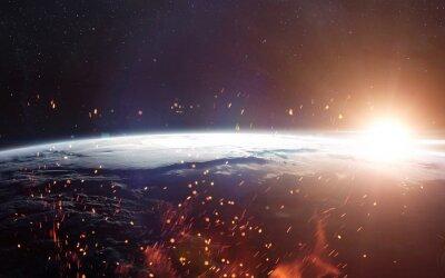 Carta da parati Vista della terra dallo spazio. Elementi di questa immagine fornita dalla NASA