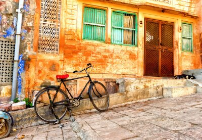 Carta da parati Vista della vecchi quartieri in città di Jodhpur in India