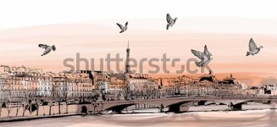 Carta da parati Vista di Parigi da