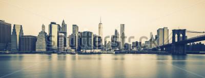 Carta da parati Vista panoramica del centro di Manhattan New York City al crepuscolo, elaborazione fotografica speciale