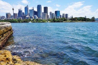 Carta da parati Vista panoramica del centro di Sydney skyline dal porto
