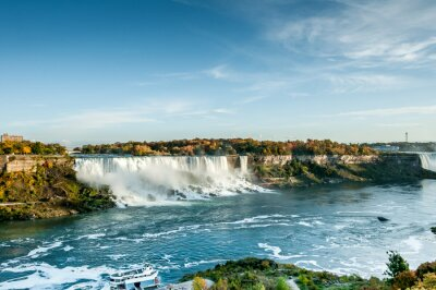 Carta da parati vista panoramica del Niagara falls in autunno