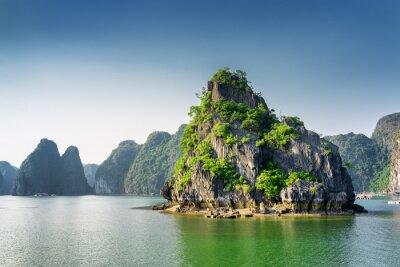 Carta da parati Vista panoramica della baia di Ha Long, il Mar Cinese Meridionale, il Vietnam