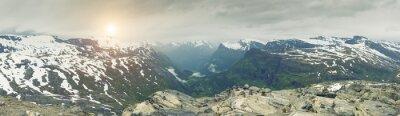 Carta da parati Vista panoramica sulla Norvegia Mountain Landscape