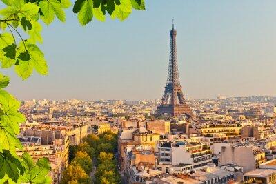 Carta da parati Vista sulla torre Eiffel al tramonto