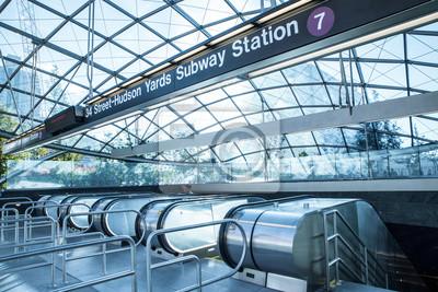 Carta da parati Visualizzazione di ingresso per nuova stazione della metropolitana 7 treno Hudson Yards