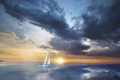 Carta da parati Voilier en pleine mer