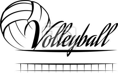 Carta da parati Volleyball Banner