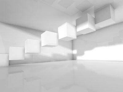 Carta da parati Vuoto architettura bianco, 3 d illustrazione
