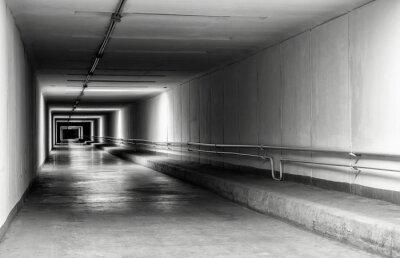 Carta da parati Vuoto tunnel di notte