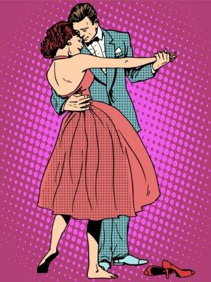 Carta da parati Wedding amanti della danza uomo e donna