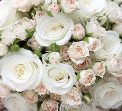 Carta da parati Wedding bouquet di rose bianche pinkand