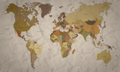 Carta da parati Weltkarte - historische Karte mit Verlauf (Hoher Detailgrad)