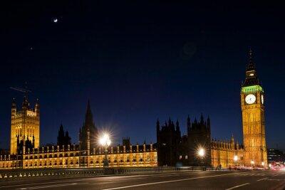 Carta da parati Westminster e il Big Ben di notte