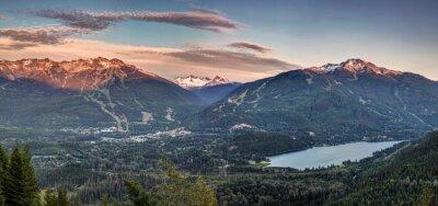 Carta da parati Whistler Blackcomb tramonto Panorama