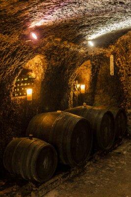 Carta da parati wine cellar in Velka Trna, Tokaj wine region, Slovakia