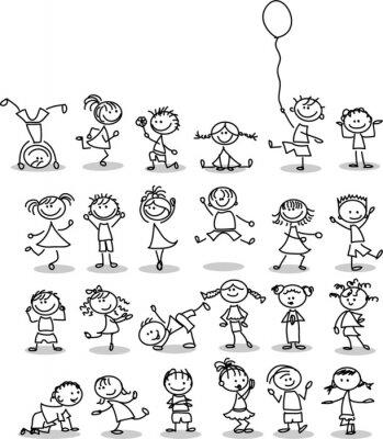 Carta da parati Симпатичные счастливых детей мультфильм