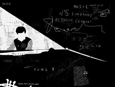 Carta da parati Пианист