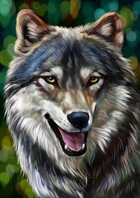 Carta da parati Волк