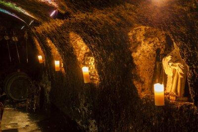 Carta da parati cantina in veľká tŕňa, regione del vino Tokaj, la Slovacchia