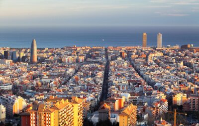 Carta da parati La città di Barcellona, Spagna