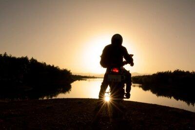 Carta da parati motorsiklet ile Doğa Turu