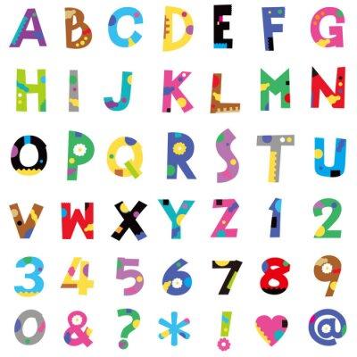 Carta da parati アルファベット、数字