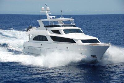Carta da parati Yacht di lusso in mare