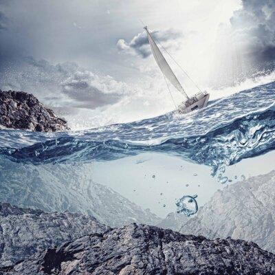 Carta da parati Yachting Sport