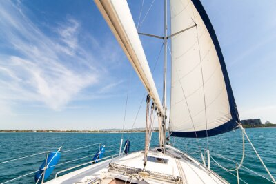 Carta da parati Yatch sail and desk