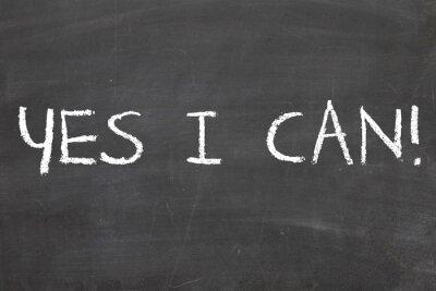 Carta da parati Yes I Can, Frase motivazionale