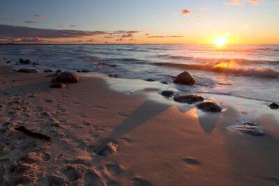 Carta da parati Zachód słońca nad morzem Bałtyckim