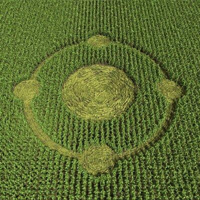 Poster 3d illustrazione di un cerchio nel grano