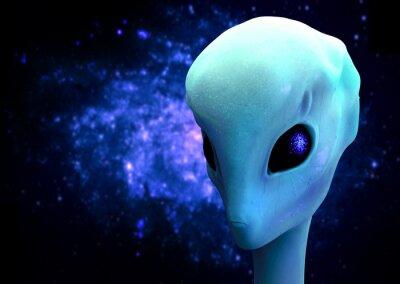 Poster 3D rendering di un alieno, extraterrestre Visitatore