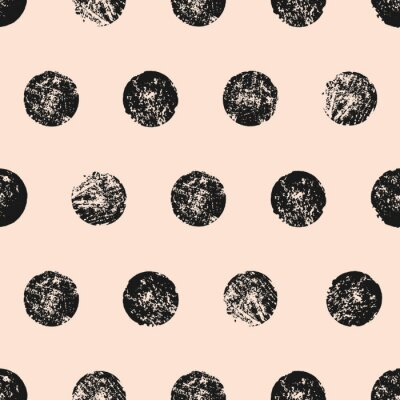 Poster Abstract Round Shapes Seamless Pattern