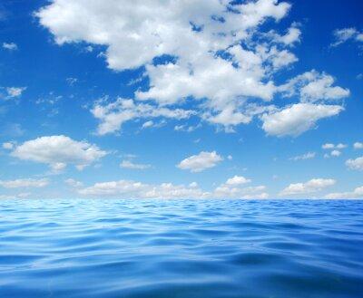 Poster acqua di mare blu