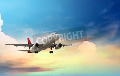 Poster aereo che decolla