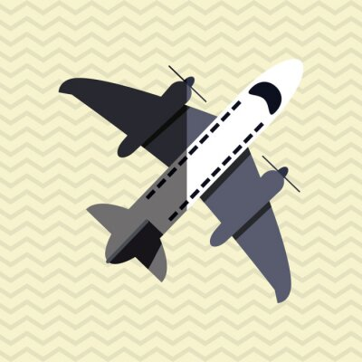 Poster Aereo icona del design