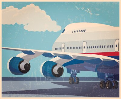 Poster aeromobili civili grande vecchio poster