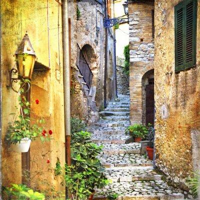 Poster affascinanti strade antiche del Mediterraneo