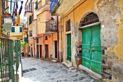 Poster affascinanti strade mediterraneo, Cinque Terre, Italia