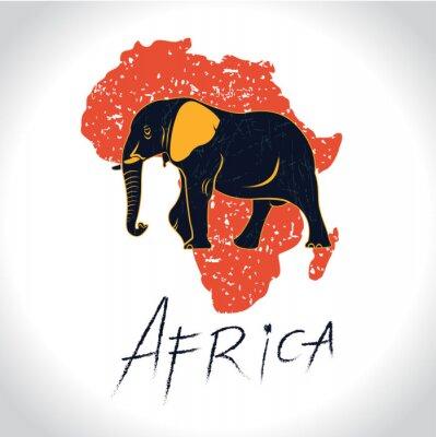 Poster Africa e Safari con il logo di elefante 2