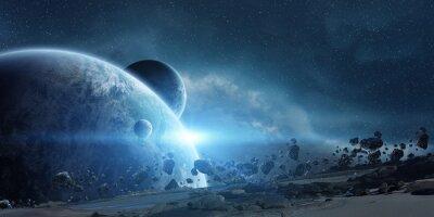 Poster Alba sul pianeta Terra nello spazio