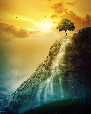 Poster Albero Waterfall