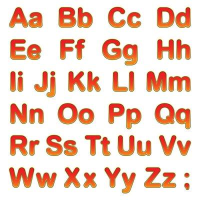 Poster Alfabeto lettere su sfondo nero